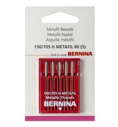 Aguja BERNINA 705H Metalfil nº80 5 unidades