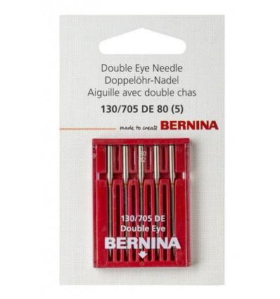 Aguja BERNINA 705H nº80 doble agujero