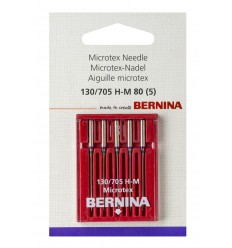Aguja BERNINA 705H Microtex nº80  5unidades