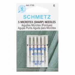 Aguja SCHMETZ Microtex nº80