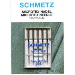 Aguja SCHMETZ Microtex nº60