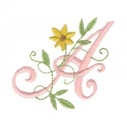 Alfabeto de iniciales florales