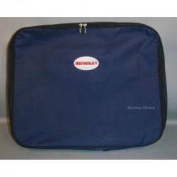 Bolso azul con asa para colgar